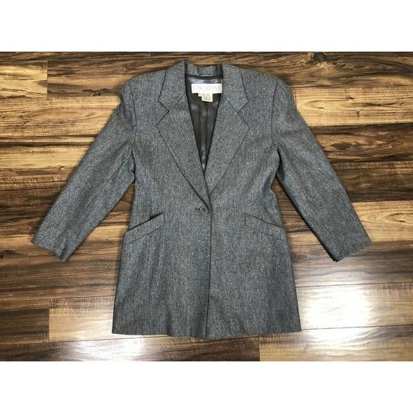 ESCADA One Button Blazer Wool Cashmere Size 42